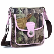 Realtree  camouflage messenger bag w/top twist lock closure pocket