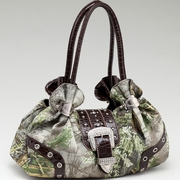 Realtree  Camouflage Shoulder  bag w/Rhinestone Buckle Accent (55798A-MAX-CF)