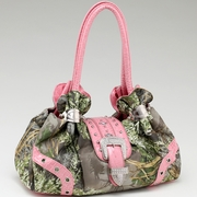 Realtree Camouflage Shoulder bag w/Rhinestone Buckle Accent  (55798A-MAX-PK)