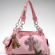 Realtree Camouflage Shoulder bag w/Rhinestone Cross (13246A-PK)