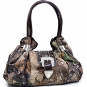 Realtree Camouflage Shoulder bag w/Rhinestone Buckle Accent  (55798A-LC)