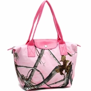 Realtree Camouflage tote bag w/flapover top snap closure (53079B-PK)
