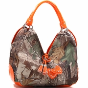 Realtree Large Camouflage Hobo Bag with Heart Charm Tassels (500677A-OR)