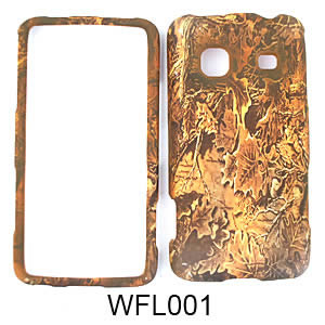 Samsung M820/Galaxy Prevail Camo Cell Phone Cover Forest Leaves
