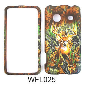 Samsung M820/Galaxy Prevail Camo Cover Deer/Rebel Flag