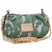 Women's Petite Camo Crossbody Shoulder Bag - Camel Trim/Light Green