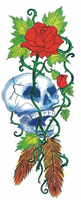Skull Temporary Tattoo for Halloween Parties