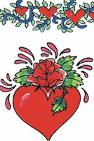Valentine Red Heart Temporary Tattoos
