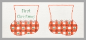 Red Gingham Baby Booties