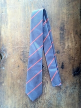 Hitsman - Gray with Orange Stripe - Tie