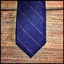 Hitsmen - Blue Wool Chalk Stripe - Tie