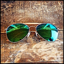Shuron - Mirrored Shooting Glasses - Green