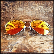 Shuron - Mirrored Shooting Glasses - Yellow