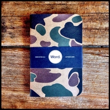 Word Notebooks - Tan Camo