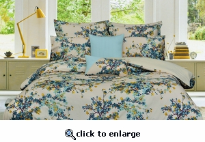 Tribeca Living Casablanca 5-Piece Cotton Floral Duvet Cover Set