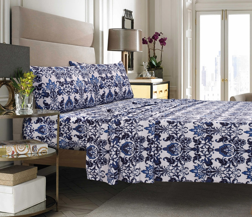 Catalina Floral Printed Egyptian Cotton 300 Thread Count