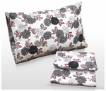 Dahlia Printed Deep Pocket Flannel Sheet Set