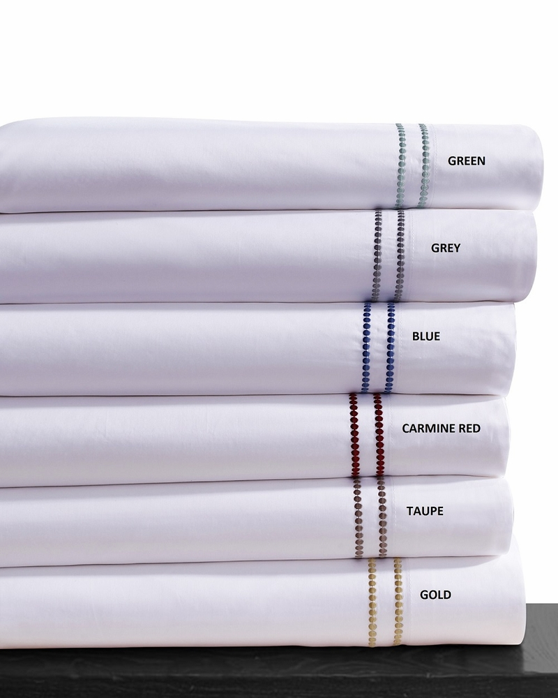 Dot Embroidered 400 Thread Count Cotton Extra Deep Pocket