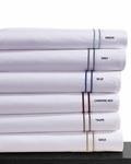 Tribeca Living Dot Embroidered 400 Thread Count Cotton Extra Deep Pocket Sheet Set by Tribeca Living