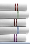Dot Embroidered 400 Thread Count Cotton Extra Deep Pocket Sheet Set by Tribeca Living