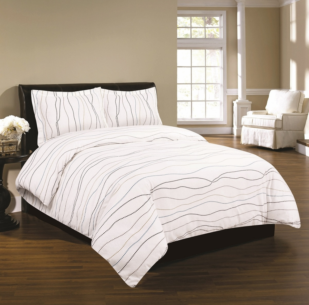 Luxury 170 Gsm Dot Printed Flannel Duvet Cover Set At
