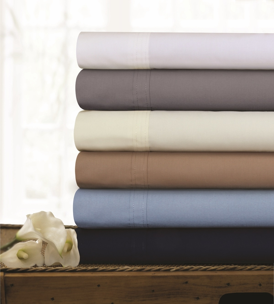 Tribeca Living Egyptian Cotton Percale 300 Thread Count Extra Deep Pocket Sheet Set