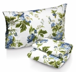 Floral Bouquet Printed Deep Pocket Flannel Sheet Set