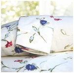 Tribeca Living Floral Garden Printed Deep Pocket Flannel Sheet Set