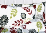 Tribeca Living Floral Printed Deep Pocket Flannel Sheet Set