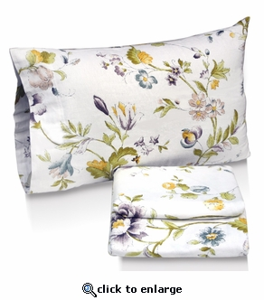 Flower Park Printed Deep Pocket Flannel Sheet Set