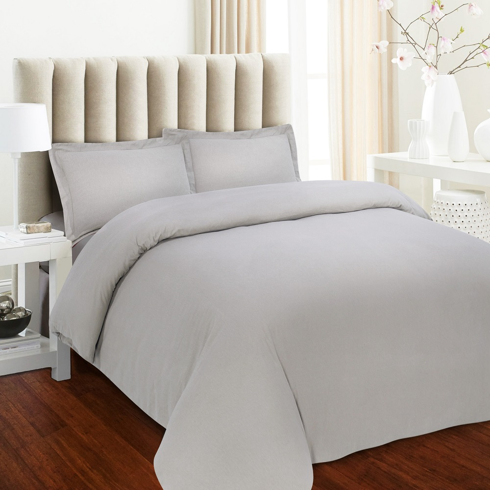 luxury 170gsm flannel solid duvet cover set
