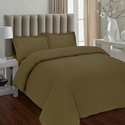 Luxury 170-gsm Flannel Solid Duvet Cover Set