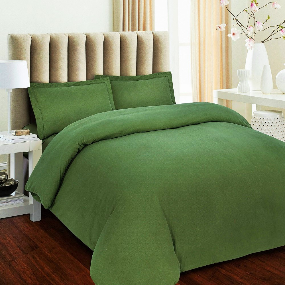 Luxury 170 Gsm Flannel Solid Duvet Cover Set At