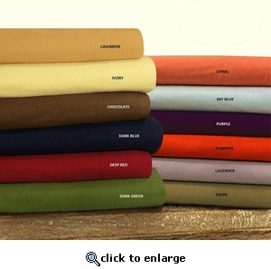 Tribeca Living Luxury Solid Flannel Extra Deep Pocket Sheet Set