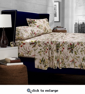 Maui Floral Printed Egyptian Cotton 300 Thread Count Deep Pocket Sheet Set