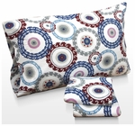 Medallion Printed Deep Pocket Flannel Sheet Set