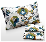Modern Floral Printed Deep Pocket Flannel Sheet Set