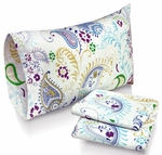 Paisley Garden Printed Deep Pocket Flannel Sheet Set