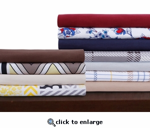 Tribeca Living 170-GSM Printed Deep Pocket Flannel Sheet Set - Various Designs