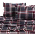 Tribeca Living 170-GSM Solid or Printed Deep Pocket Flannel Sheet Set - Various Designs