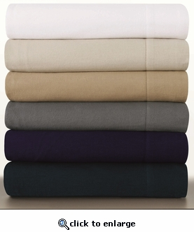 Tribeca Living 200-GSM Luxury Solid Flannel Extra Deep Pocket Sheet Set