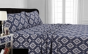 Tribeca Living 200-GSM Printed Deep Pocket Flannel Sheet Set
