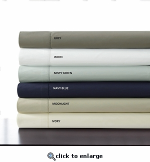 Tribeca Living Egyptian Cotton Percale 500 Thread Count Deep Pocket Sheet Set