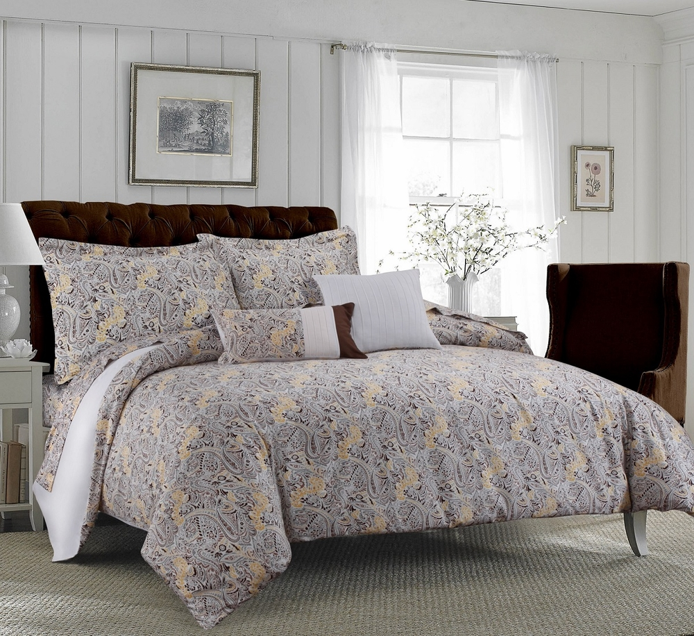 Tribeca Living Fiji 5-Piece Cotton Floral Duvet Cover Set ...