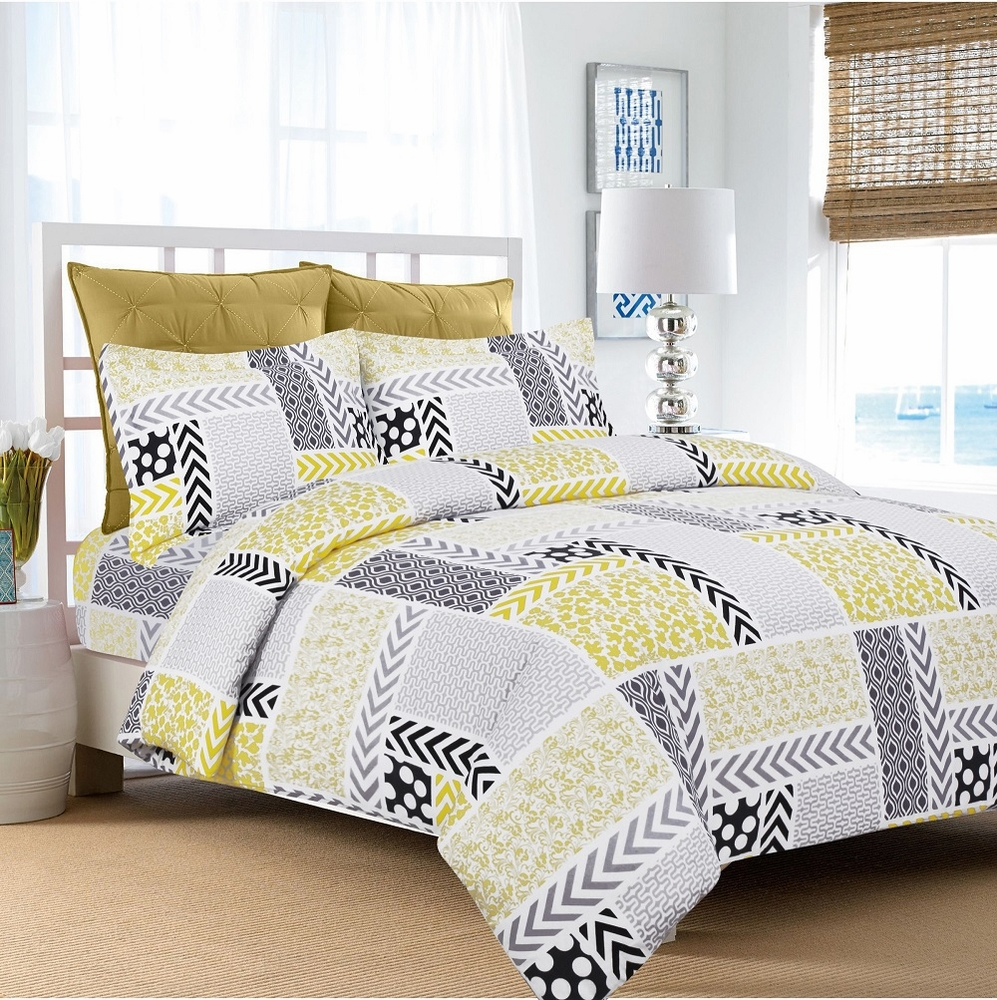 Bed sheet design patchwork -  Ultra Soft Flannel 5 Ounce Printed Duvet Cover Set Various Designs