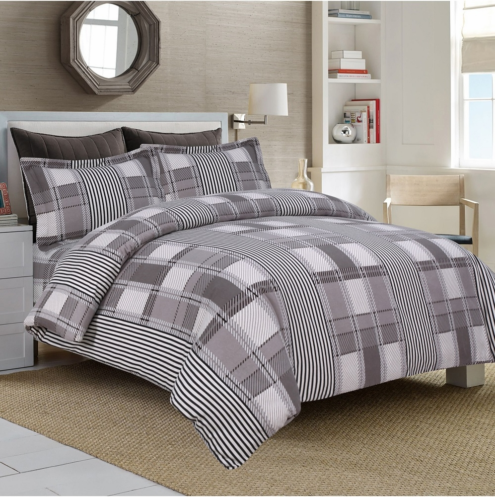 Ultra Soft Flannel 5 Ounce Printed Duvet Cover Set