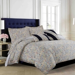 Tribeca Living Fiji 5-Piece Cotton Floral Duvet Cover Set Multi-color