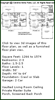 3D Images For CHP-BS-1266-1574-AD- Small Expandable 3D House Plan Views
