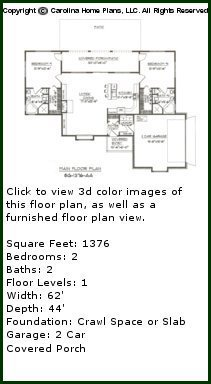 3D Images For CHP-SG-1376-AA - Small Florida Style 3D House Plan Views
