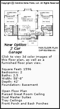 3D Images For CHP-SG-1596-AA - Small Craftsman Bungalow 3D House Plan Views